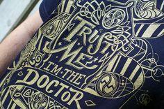 Trust Me I'm The Doctor TShirt  Hand Screen by UnicornEmpirePrints