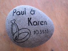 Need a fun, unique and inexpensive wedding gift for the couple who has it all? Buy them a custom engraved garden rock! They can put it in the garden, use it as a doorstop, put it on the coffee table as a conversation starter...the options are endless! (Schlitzberger and Daughters Monument Co., Inc.) www.pinterest.com/schlitzberger