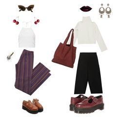 """""""untitled5"""" by hiddenmermaid on Polyvore featuring Lemaire, Dr. Martens, Etro, Oleg Cassini and Boohoo"""