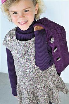 Robe Eloïse, Liberty fleurs violettes