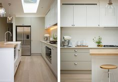 With concrete bench, similar pendants, black sink and knobs and taps