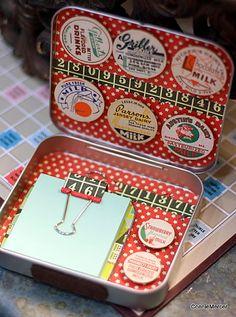 gift box from Altoid tin