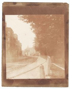 """William Henry Fox Talbot, """"High Street, Oxford"""" (probably July 1842), salted paper print (courtesy Bodleian Libraries, University of Oxford)"""