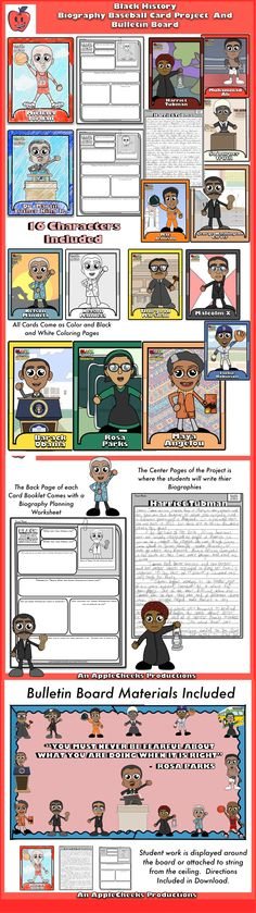 Black History Month Biography Projects, Bulletin Board, and More Amazing  Includes- Dr. Martin Luther King Jr, Rosa Parks, Harriet Tubman, George Washington Carver, Mae Jemison, Michael Jordan, Muhammad Ali, Nelson Mandela, Malcolm X, Fredrick Douglass, Sojourner Truth, Maya Angelou, Thurgood Marshall,