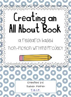 Creating an All About Book! {a research based, non-fiction writing project}
