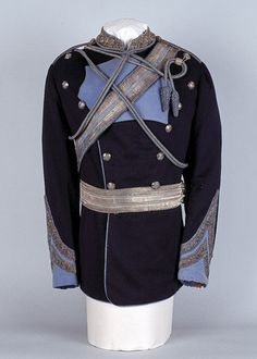 Full dress tunic, British lancer pattern, worn by Lieutenant-Colonel Walter Fane, 19th Regiment of Bengal Cavalry (Lancers), 1875 (c)