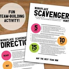 Team Games, Workplace, Printables, Activities, Fun, Etsy, Print Templates, Team Bonding Games, Funny