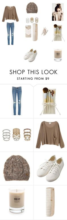 """""""Untitled #79"""" by marissa-ch ❤ liked on Polyvore featuring Frame Denim, Topshop, Monki, Jane Norman, Muji, Baxter of California and HAY"""