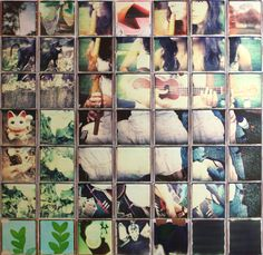Isn't this a fantastic idea to decorate your wall? Patrick Winfield assembles these stunning Polaroid collages using Impossible Project film! A Level Photography, Photography 2017, Photography Classes, Polaroid Collage, Collage Art, Collages, Cardboard Art, Art Base, Photomontage