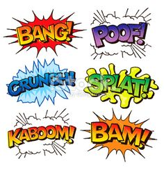 Comic Book Sound Effects Illustration