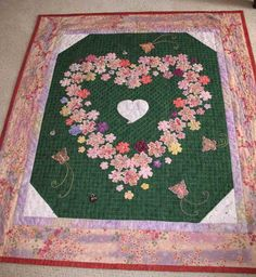Pictures of Appliqué Quilts: Stef's Love Garden Quilt 05/16/15  JS