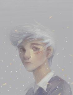oliviachinmueller:  Todays warmup ended up being my whole morning… My interpretation of Noah from The Raven Cycle books! My favorite glittery ghost <3Characters so far:BlueAdam