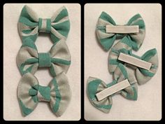 Small hairbow made with Pavo Zebra spearmint wrap scrap. Bow measures approx. 2.5 x 2. Finished on lined clip. *Small parts not suitable