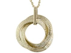 10k Yellow Gold Interlocking Circles 18 Inch Necklace