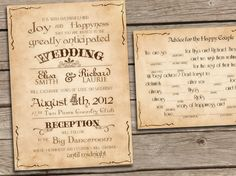 Free+Printable+Wedding+Invitations+DIY | Invitations PRINTABLE TEMPLATES Vintage Retro diy set - Milwaukee ...