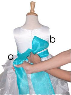 How to tie a bow on a dress. Perfect every time.
