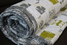 Modern Patchwork Quilt by silverfoxcub on Etsy, £65.00