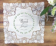 Flower girl handkerchief wedding gift thank you by PrintmadeStudio