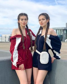 Thinking about . Twin Girls Outfits, Girly Outfits, Outfits For Teens, Trendy Outfits, Tomboy Fashion, Teen Fashion Outfits, Girl Fashion, Matching Outfits Best Friend, Best Friend Outfits