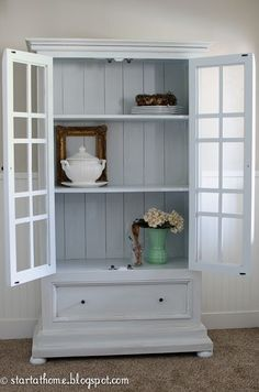 how to for painting A Blue Hutch