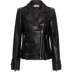 Iro - Dumont Ruffled Leather Jacket ($1,518) ❤ liked on Polyvore featuring outerwear, jackets, slim jacket, cropped jacket, ruffle leather jackets, crop leather jackets and 100 leather jacket
