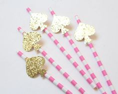 Beautiful Kate Spade Themed Party Straws