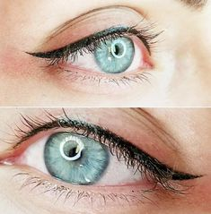 Was ist klassisches permanentes Eyeliner-Make-up? ★ Permanent Make-up Black Eyeliner Makeup, Red Lipstick Makeup, Eye Makeup Tips, Eyebrow Makeup, Classic Eyeliner, Glitter Makeup, Eyeshadow Makeup, Makeup Products, Dyed Hair