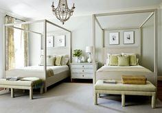 guest room idea. Shared dresser/nightstand