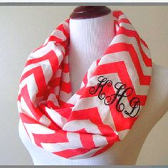 Monagramed infinity scarf. LOVE