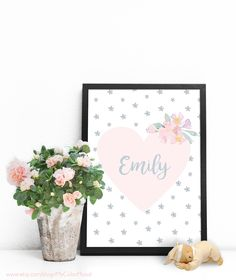 Name signs for nursery baby name art custom wall art printable personalized baby gifts custom name art printable poster baby name wall art baby personalized gifts unique personalized gifts for girls negle Gallery