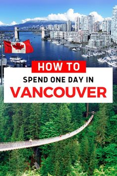 Vancouver, the Britsh Columbia city with everything. Mountains, parks with beaches, friendly people, great summers, actual seasons (read; rain), food to satisfy even a fussy eater (Craig) and cool neighbourhoods waiting to be explored. So, with all this potential activity, what do you do with one day in Vancouver? Find out here... North America Destinations, Canada Destinations, Canada Travel, Travel Usa, Travel Guides, Travel Tips, Winter Breaks, Hiking Usa, Columbia City