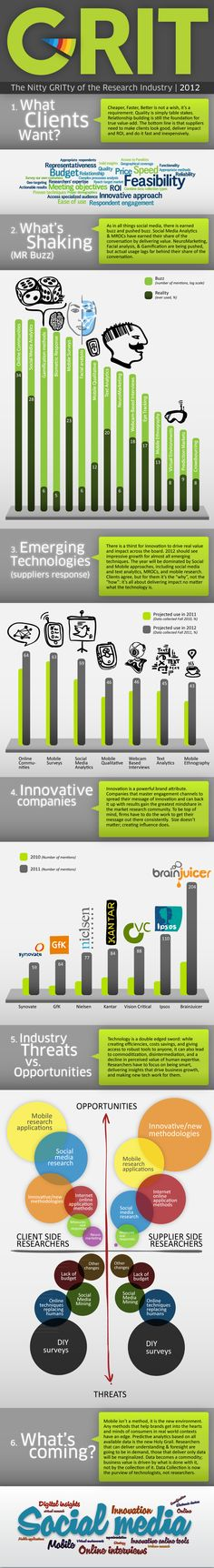 The Nitty GRITty of the Market Research Industry Infographic