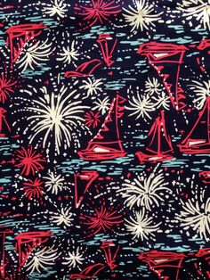 Fabric for sale in my Etsy shop ~ Lilly Pulitzer's Bright Navy Sparks Fly Glow July 4th (18x18) by lillybelle designs, $10.50 @ lillybelledesigns.etsy.com