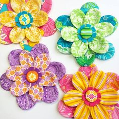 Some flower brooches I made using The Linen Cupboard.
