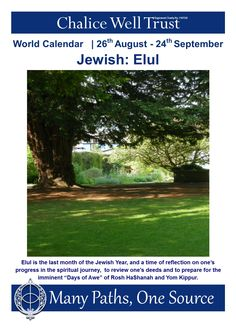 "Elul is the last month of the Jewish Year, and a time of reflection on one's progress in the spiritual journey,  to review one's deeds and to prepare for the imminent ""Days of Awe"" of Rosh HaShanah and Yom Kippur."