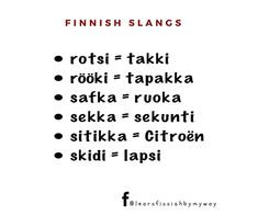 """Learn Finnish by my way on Instagram: """"Sori!!! Rööki = tupakka ei tapakka  Kiitos vastauksestanne!Oikeat vastaukset ovat täällä👆🏻 #puhekieli #slangit #finnishslangs #opisuomea…"""" Math Equations, Instagram"""