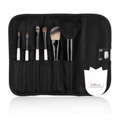 $12.99 (#coupon code 8RGHX77P) --- Ducare® Best Professional 6 Pieces Makeup Brush Set with Black Classic Bag.