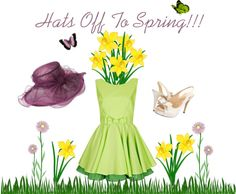 """""""Hats Off To Spring!!"""" by jancarlson on Polyvore"""