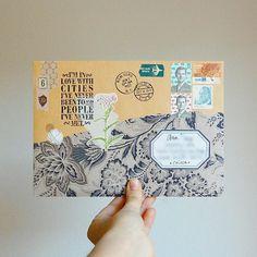 mail art Pen Pal Letters, Letter Art, Letter Writing, Snail Mail Pen Pals, Snail Mail Gifts, Mail Art Envelopes, Paper Art, Paper Crafts, Fun Mail
