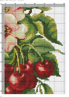 VK is the largest European social network with more than 100 million active users. Cross Stitch Fruit, Cross Stitch Heart, Cross Stitch Flowers, Cross Stitching, Cross Stitch Embroidery, Hand Embroidery, Cross Stitch Designs, Cross Stitch Patterns, Cross Stitch Cushion