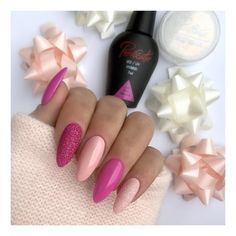 18 Trending Nails Designs For Chic Women Art - nails & co - Nageldesign Fancy Nails, Love Nails, My Nails, Acrylic Nail Designs, Nail Art Designs, Acrylic Nails, Pink Gel, Pink Nails, Gorgeous Nails