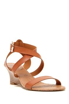 Carrini Crisscross Strappy Wedge Sandal by Carrini on @HauteLook
