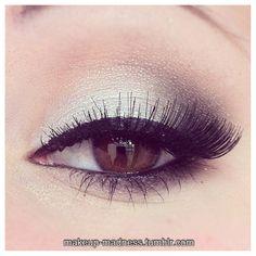 Eyeshadow and eyelashes.