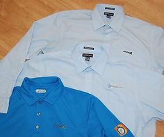 LOT/3 Men's REAL ESTATE Dress Shirts LANDS END 16.5x35 L PROPERTY SHARK Point 2