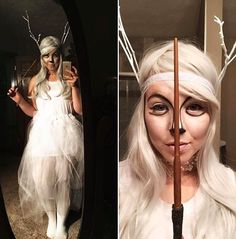 EXPECTO PATRONUM! My stag patronus costume is Riddikulus! #harrypotter…