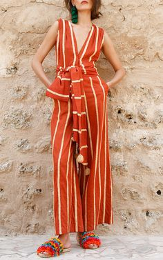 Milla Sleeveless Embroidered Jumpsuit by MOCHI for Preorder on Moda Operandi