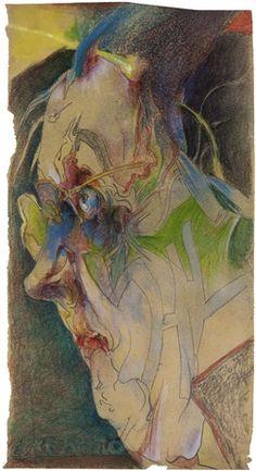 Horst Janssen, Illustrator, Watercolor Water, Artist Sketchbook, Expressive Art, Watercolor Portraits, Gouache, Portrait Art, Figurative Art