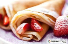 Protein Crepes Recipe  1/2 cup egg whites (4 large) 1 scoop protein powder Splash of water