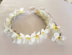 Beautiful tropical Hawaiian floral by HeavenlyHaloBoutique on Etsy