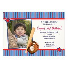Baseball Birthday Party Invitations